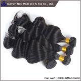 Weave desenhado dobro do cabelo humano da extensão do cabelo humano da onda do corpo