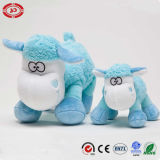 Il regalo molle farcito blu della peluche di alta qualità scherza il giocattolo delle pecore