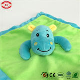 Blue Hippo Adorable Baby Blanket를 가진 녹색 Soft Velboa