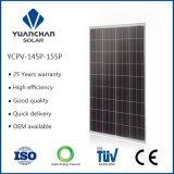 Comitato solare del Ce Poly150 W di iso di TUV con alta efficienza e 10 anni di garanzia di qualità dalla fabbrica popolare nel servizio della Tailandia