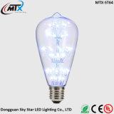 os bulbos do diodo emissor de luz 3W aquecem a lâmpada de filamento de vidro retro da ampola de Edison dos bulbos energy-saving brancos de E27 220V para os bulbos Home do retrofit do diodo emissor de luz da iluminação da decoração