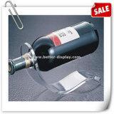 Bandeja de serviço de garrafa acrílica branca para exibição de vinho Btr-D2159