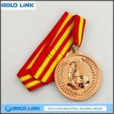 Médailles faites sur commande de sports de trophées de récompense de pièce de monnaie en métal de médaille du football du football