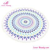 鮮やかなヤシの木パターン円形のMicrofiberの曼荼羅のビーチタオル