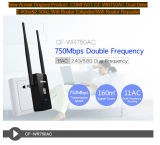 De de nieuwe Vergroting van de Router WiFi van de Band 2.4GHz&2.5GHz van de Aankomst Originele Dubbele/Waaier van het Netwerk van de Repeater WiFi van de Repeater 750Mbps van de Router WiFi (HR1)