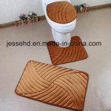Waschbare Sets des Badezimmer-3PCS verzieren Bad-Toiletten-Deckel-Sitz
