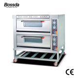 2decks 4traysのパン屋のための工場価格のベーキング機械装置のデッキピザオーブン