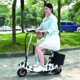 "Mini ""trotinette"" X-Foldable elétrico barato de três rodas"