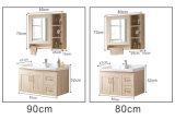 Het eenvoudige Kleine Kabinet van de Badkamers van het Ontwerp Muur Gehangen Stevige Houten (GSP9-007)