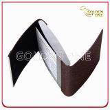 Portatarjetas de cuero abierto del doble creativo promocional del diseño