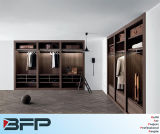Caminhada nos gabinetes de madeira do Wardrobe do armário do quarto