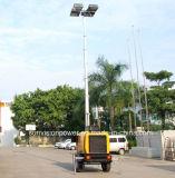 De mobiele die Toren van de Verlichting door Perkins de Reeks van de Generator wordt gedreven