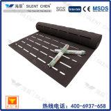 La alfombra de EVA fue la base con el orificio largo para el suelo de la madera dura
