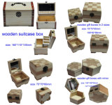 Caixa de madeira do presente feito sob encomenda para o pacote/jóia/relógio