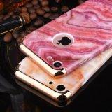 Cas dur en cristal de marbre de galvanoplastie de cas de téléphone cellulaire pour l'iPhone 7 6 4.7 positifs