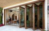 Porta de dobradura de madeira do vidro Tempered do larício da madeira contínua de Woodwin
