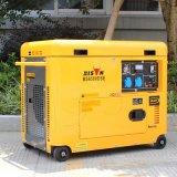 バイソン(中国) BS6500dsec 5kw 5kVAの単一フェーズのAir-Cooled世帯の小さいポータブル5000wattの無声ディーゼル発電機