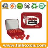 Rechteckiger Metallzinn-Süßigkeit-Kasten, süsses Zinn, Gummi-Zinn-Kasten