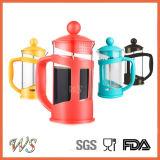 Wschxx028 Heet verkoop de Plastic Franse Pers van de Koffie van het Roestvrij staal van het Koffiezetapparaat van de Pers