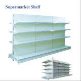 平背のスーパーマーケットの壁の金属の島のゴンドララック棚