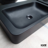 Lavabo moderne de récipient de noir de salle de bains