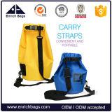 Sacola seca para saco de sacar 500d para sacola impermeável com caiaque, saco com saco seco para telefone e alça de ombro ajustável longa