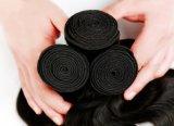 Cor preta ondulada da onda 16inch do corpo do cabelo da extensão do cabelo humano da venda por atacado 100%