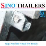 Remorques simples complètement soudées d'essieu galvanisées par usine d'OEM