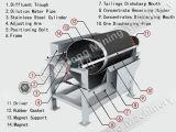 Separador magnético fraco para a redução do minério de magnetita