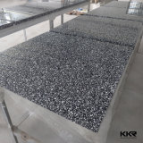 Marbre cultivé sur mesure Tableaux carrés de la restauration rapide en surface solide