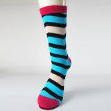 Kundenspezifische bunte Streifen-Socken mit Großverkauf