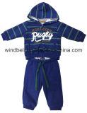 Краска пряжи Striped костюм ватки для ребёнка с печатью фольги