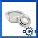 Composant sanitaire de réservoir en verre de vue d'acier inoxydable