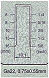 """Пневматический датчик 22 инструментов 5/8 """" точных сшивателей Fs1416 кроны"""