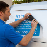 Etiqueta engomada durable del imán del coche del movimiento fácil impermeable