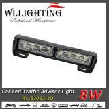 Diodo emissor de luz que adverte a barra clara do conselheiro do tráfego da seta direcional