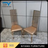 Металл золота конструкции мебели гостиницы роскошный обедая стул