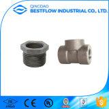 El acero de carbón roscado forjó las instalaciones de tuberías