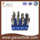 Bavures rotatoires de carbure de qualité