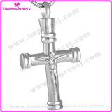 Bijou de souvenir d'incinération d'acier inoxydable d'urne de croix du crucifix des hommes
