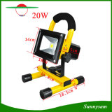 20W COB Rechargeble Solar LED Flood Work Light, Water Resistant Cordless Rechargeable Camping Lamp