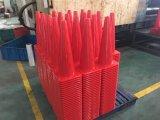 cones & marcadores alaranjados do treinamento da agilidade do futebol de 500mm