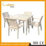 Outdoor Leisure Furniture Rattan Wicker White Chair Bistro Set de mesa
