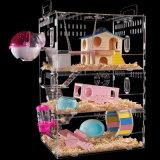 Kundenspezifischer quadratischer Hamster-Rahmen-Acrylhaustier-Haus