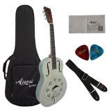 低価格の真鍮の金属ボディ単一の円錐形の共鳴器のギター