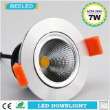 7W proyecto blanco puro ahuecado Dimmable especular LED comercial Downlight