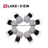 고요한 전도성 고무를 가진 분명히된 LED 재치 스위치