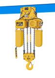 Dos porciones mecánicas alzamiento de cadena eléctrico de 10 toneladas