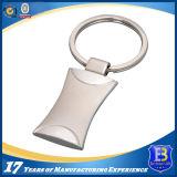 Trousseau de clés en alliage de zinc avec le fini brumeux de nickel pour la promotion (Ele-K020)
