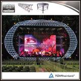 コンサートのための熱い販売の使用されたアルミニウムドームの屋根のトラス